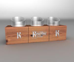 Kettle One 3up Glorifier