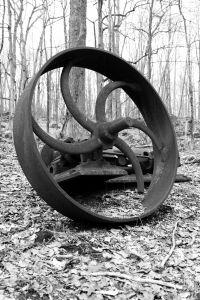 Rusted Wheel BW